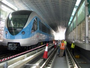 Construction of Dubai Metro